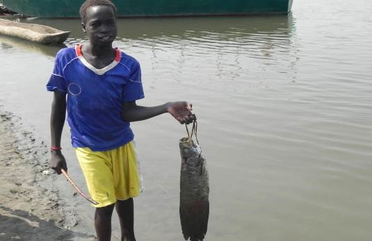 Boy with the fish fishing