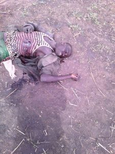 Picture of a dead Mure Cattle Rustler